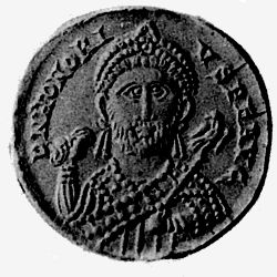 Coin depicting Honorius