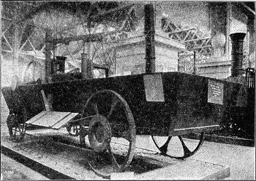 Reconstruction of Oliver Evans' automobile.