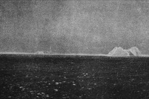 [Atlantic Ocean and the iceberg that sunk the Titanic]